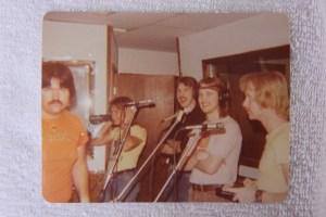 Silver Laughter laying down vocals - Mick, Ken, Jon and Kim