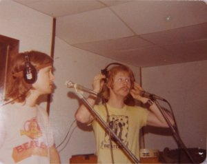 Jon and Kim doing some vocals