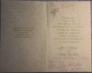 A fan's Christmas card