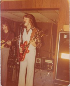 Ken on his red Gibson