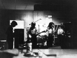 Silver Laughter around 1973 - john Carstensen, Jon Ludtke, Kim Ludtke in the bright lights, Steve Elliott and Denny Walton