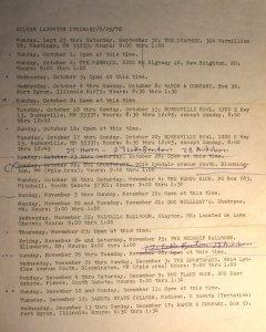 1978 - Itinerary