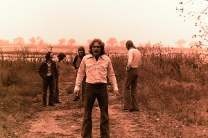 `Silver Laughter 1976 - Carl, Mick, Jon and Ken in back with Paul out front
