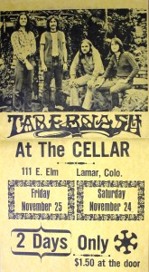 Tabernash poster 1973 - Craig Hute, Dave Neumann, Paul Staack and Mick Orton