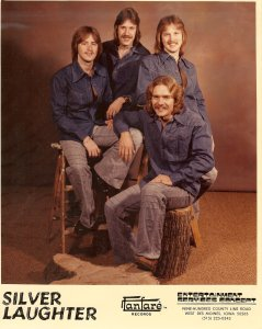 Silver Laughter 1977 - Mick, Ken, Jon and Paul (seated)