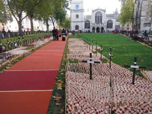 The Field of Remembrance remains for about 10 days