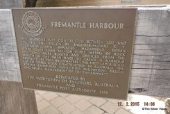 Near the statue is a tribute from the Institute of Engineers of Australia and the Port Authority