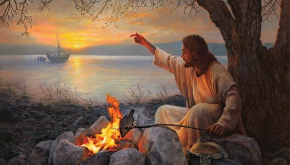 jesus grilling