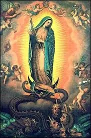 Mary crushing serpents head