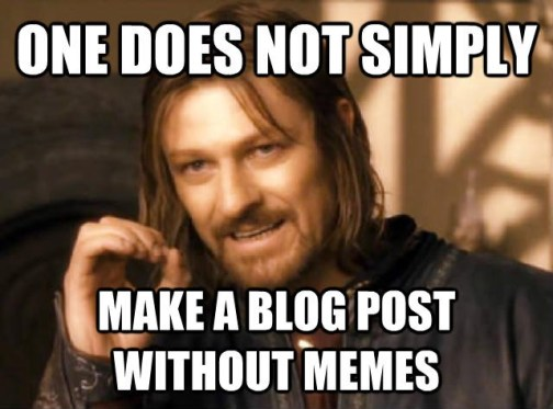 memes in blog posts