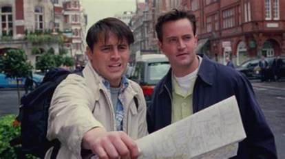 Joey, Chandler, and Map