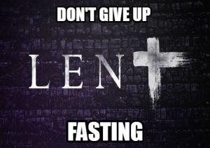 Lent fasting meme