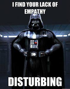 Darth vader empathy