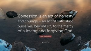 Pope John Paul II quote on confession