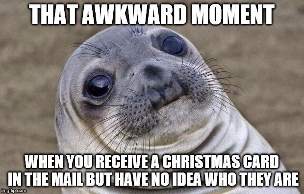 Awkward Family Christmas card meme