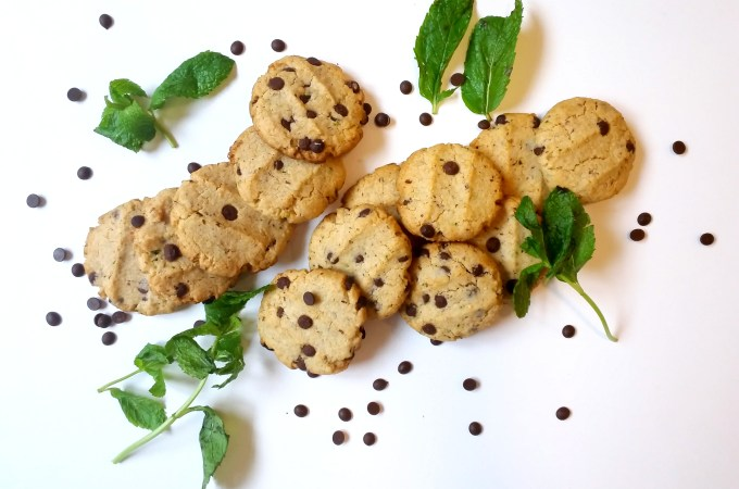 Galletas de Menta con Chips de Chocolate.