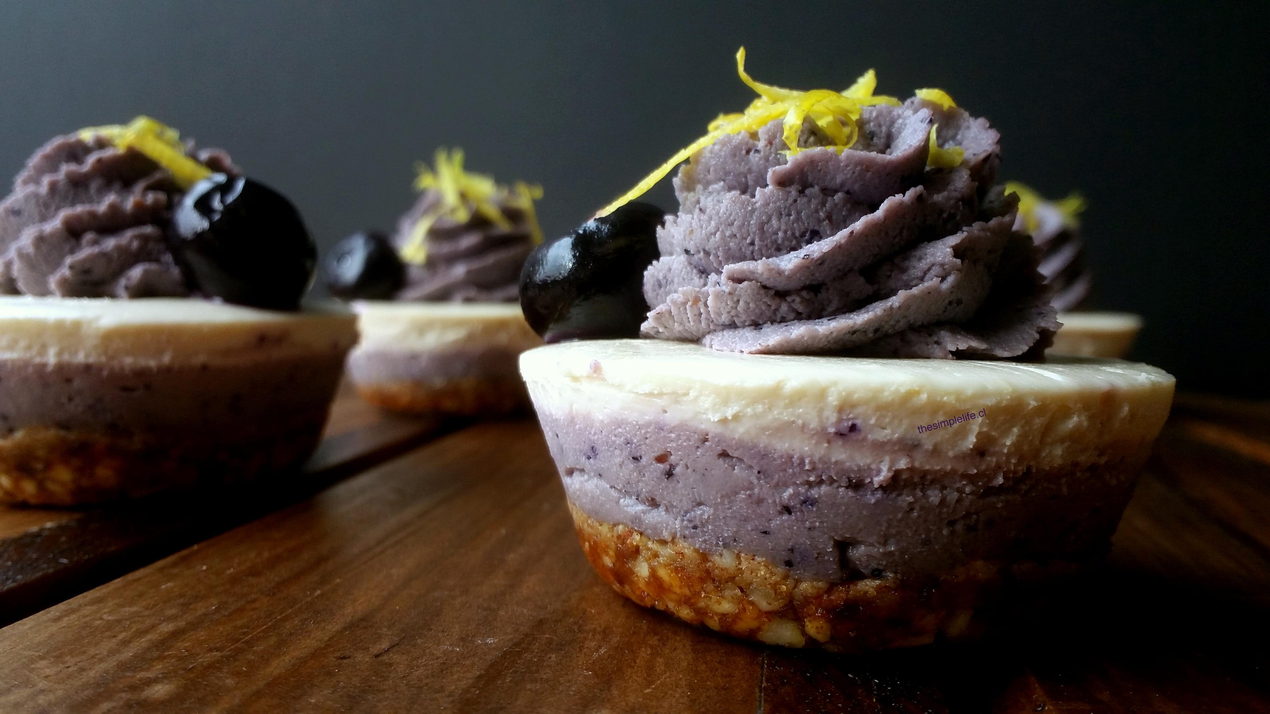 Cheesecake Crudivegano de Limón y Arándano-Maqui 17
