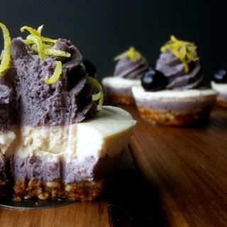 Cheesecake Crudivegano de Limón y Arándano-Maqui 5