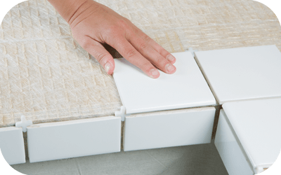 tile countertop installation using