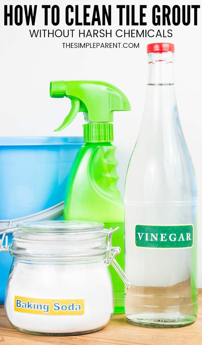 how to clean grout with vinegar and