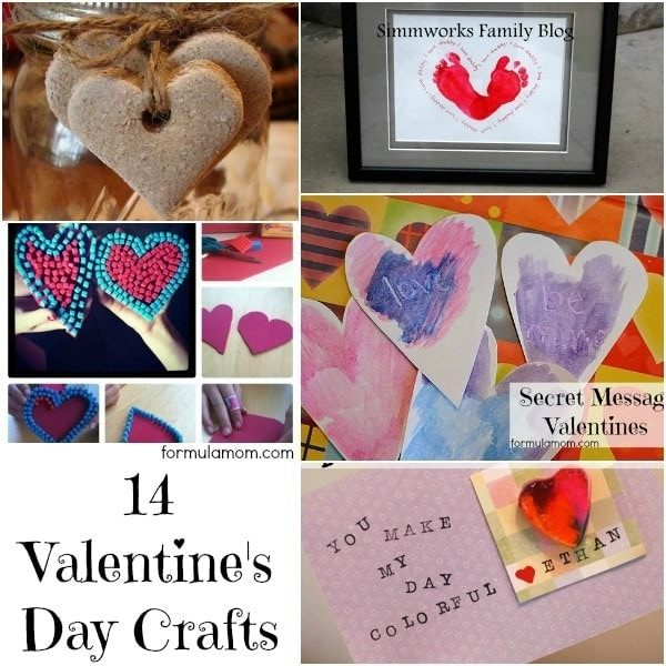 14 Valentine's Day Crafts #ValentinesDay • The Simple Parent