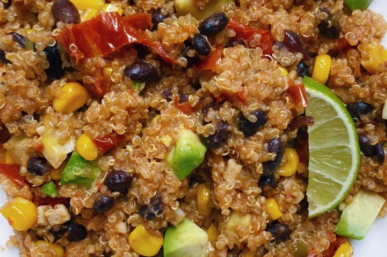 mexican inspired quinoa featured