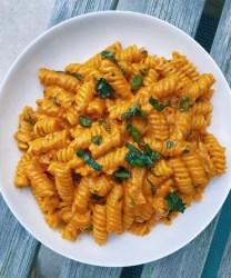 vegan spicy fusilli