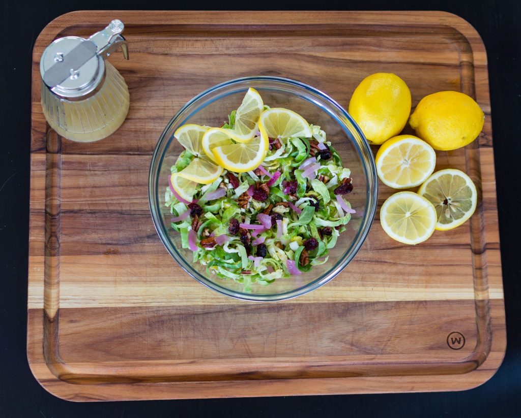 This brussel sprout salad with zesty lemon vinaigrette is a fun, fresh twist on brussel sprouts. The lemon zest in this recipe brightens up the whole dish no matter what the weather is outside. thesimplesupper.com