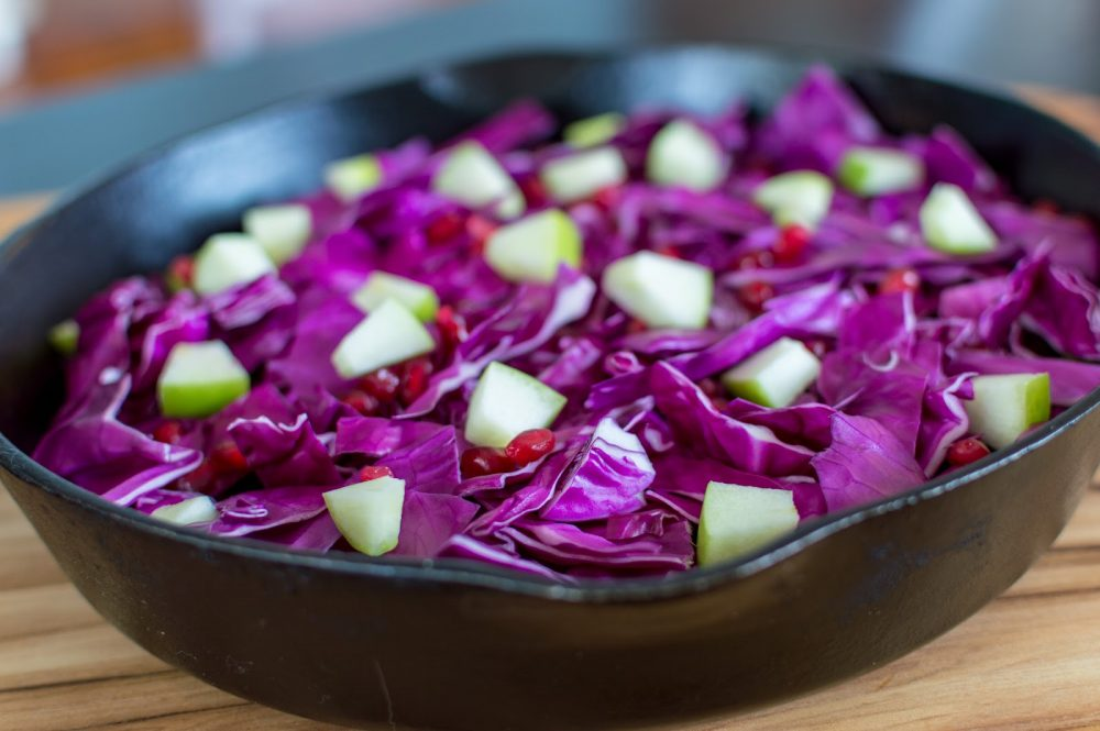 Pomegranate Braised Cabbage