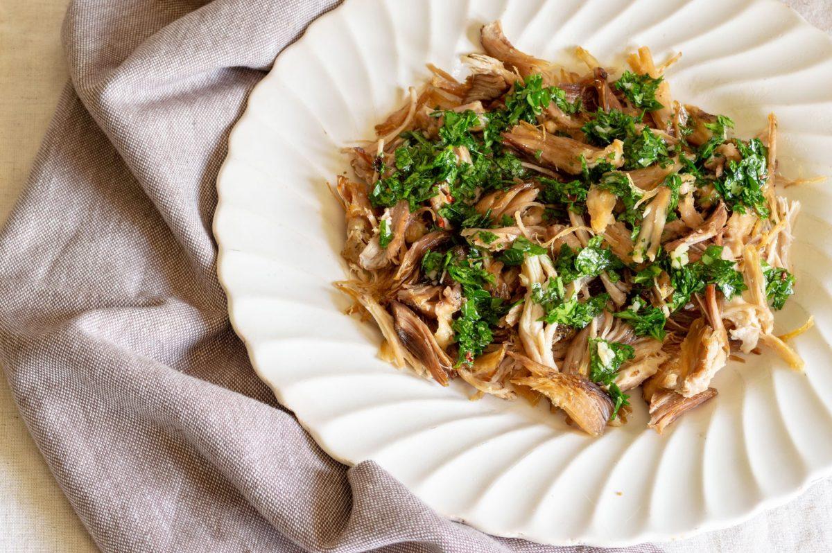 Crock-pot Pork Carnitas with Traditional Chimichurri