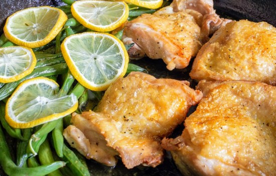 Lemon Pepper Chicken & Green Bean Skillet