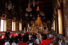 The Golden Buddha inside the ordination hall