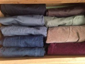All my pants fit in one drawer.
