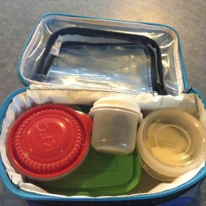 Johanna's hodgepodge of containers.