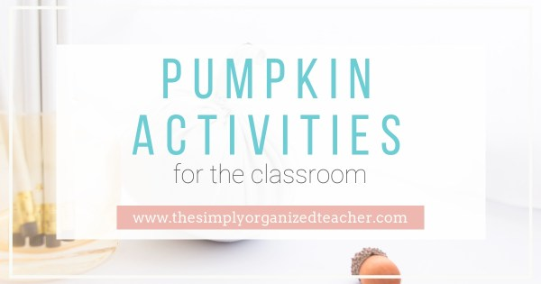 "Pumpkin Activities to use in your elementary classroom. Ideas for reading, writing, math, and science. Have ""fall fun"" with your students by using some of these fun, fall, pumpkin activities."