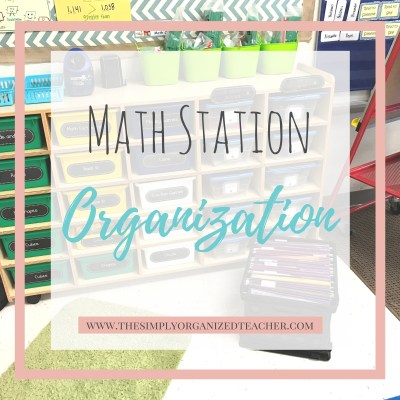 Math Station Organization: Student Materials Series Pt. 2
