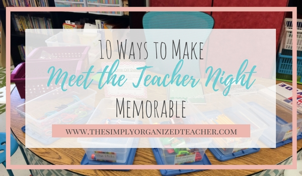 Meet the Teacher Night ideas for an elementary teacher. First year teachers will find this guide helpful as they are creating plans for their first meet the teacher night.