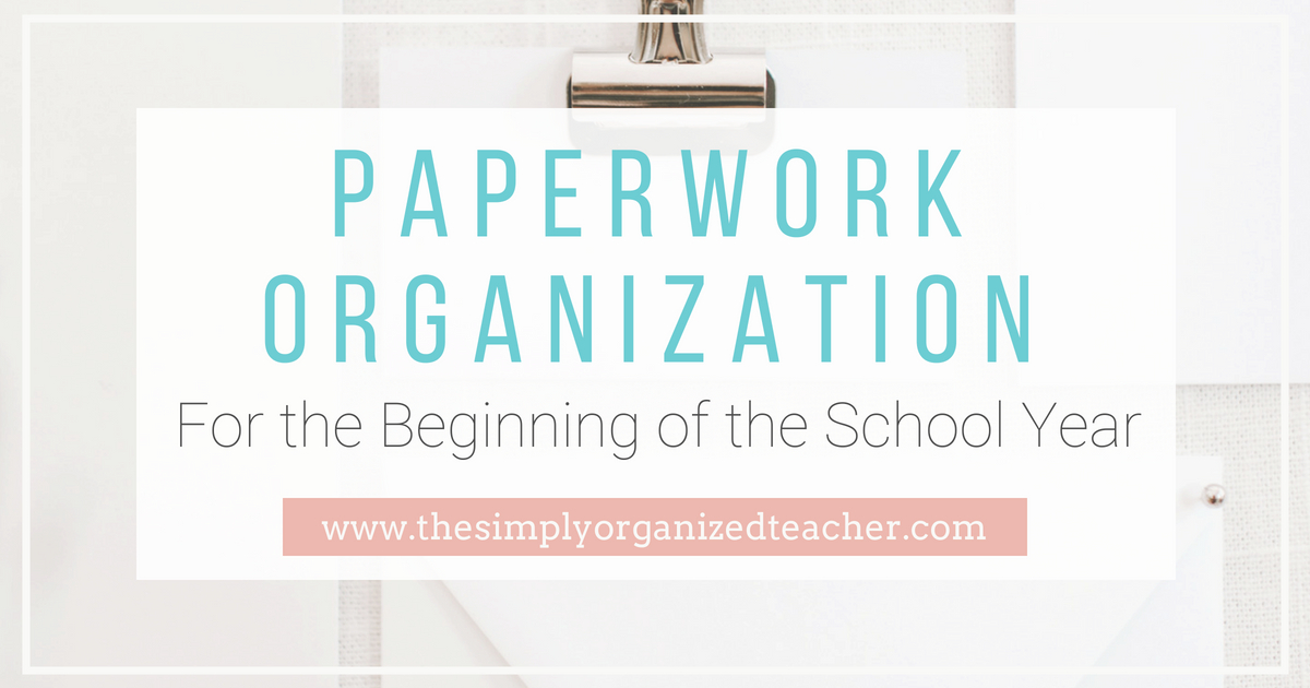 Paperwork Organization for back to school paperwork. Ideas for back to school and meet the teacher night forms as well as how to organize them effectively.