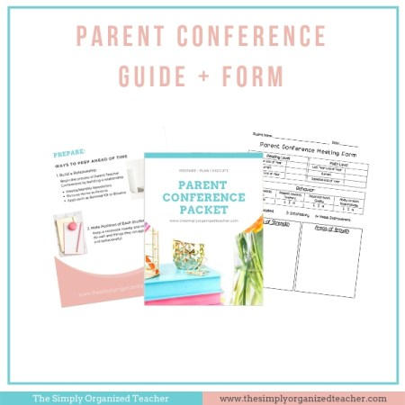 Plan for parent conferences with these 5 steps plus a few extra tips!
