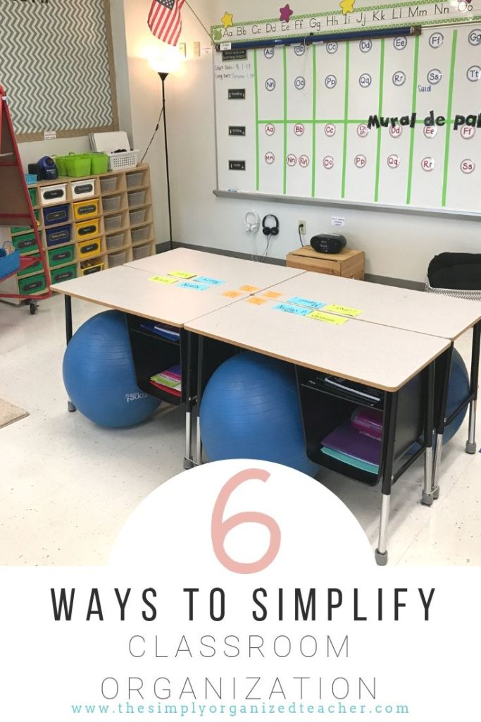 Looking to simplify your classroom organization? These six ways will help you set up an organized classroom and create a balanced place for teachers and students!