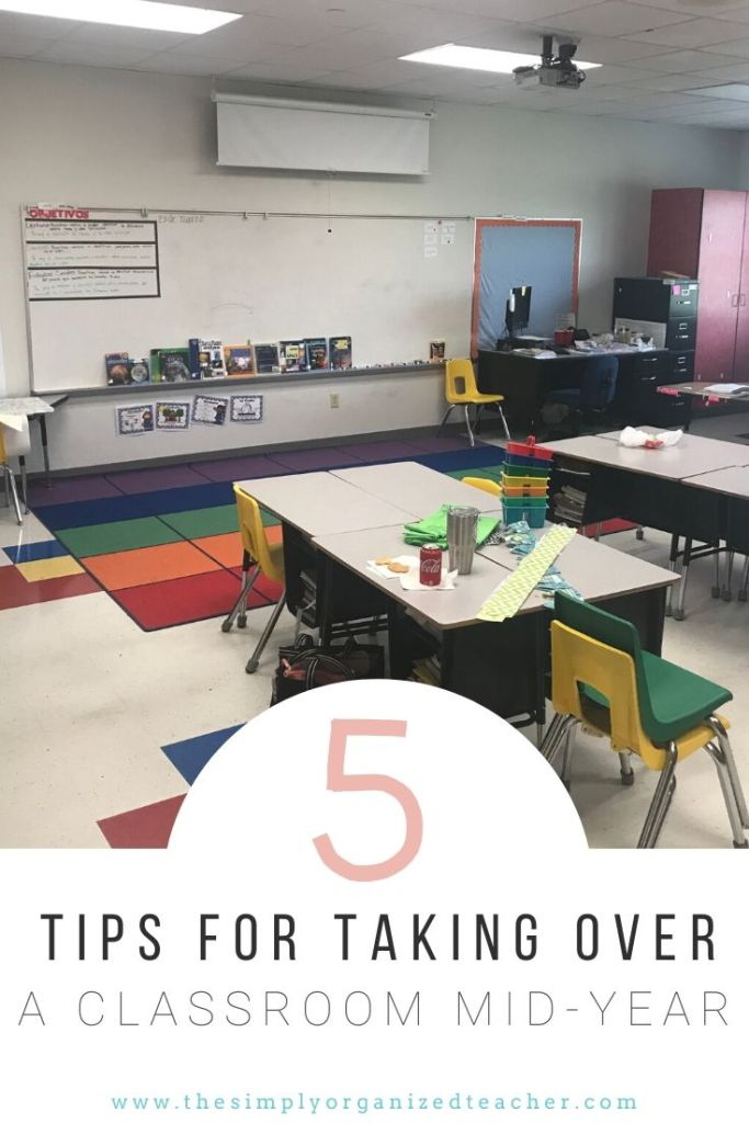 Are you taking over a classroom mid year? This blog shares tips for taking over a classroom mid year and how to set up a classroom mid-year.