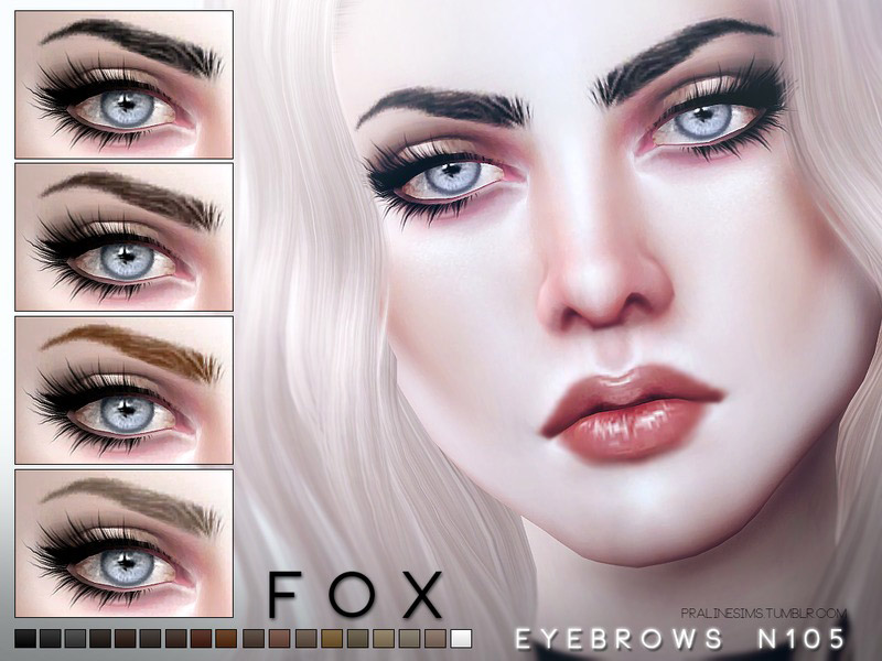 Fox Eyebrows N105 The Sims 4 Catalog