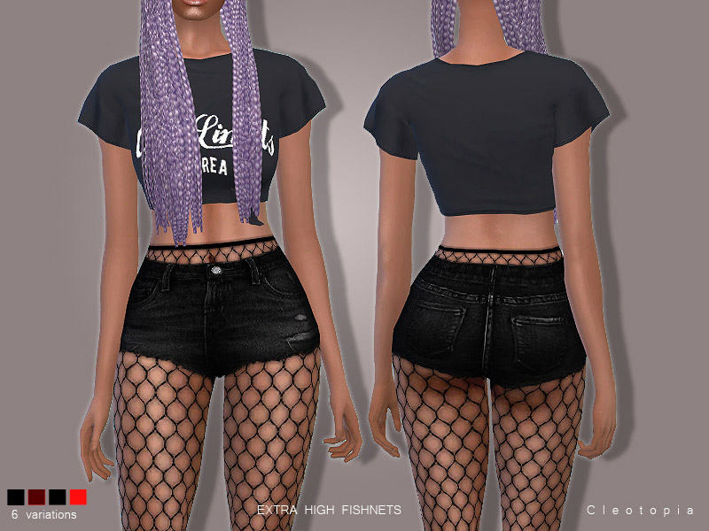The Sims 4 Snake Thigh Tatoo: Set78- High Waisted Fishnet Tights