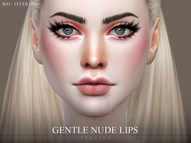 Gentle Nude Lips N44 - The Sims 4 Catalog-4324