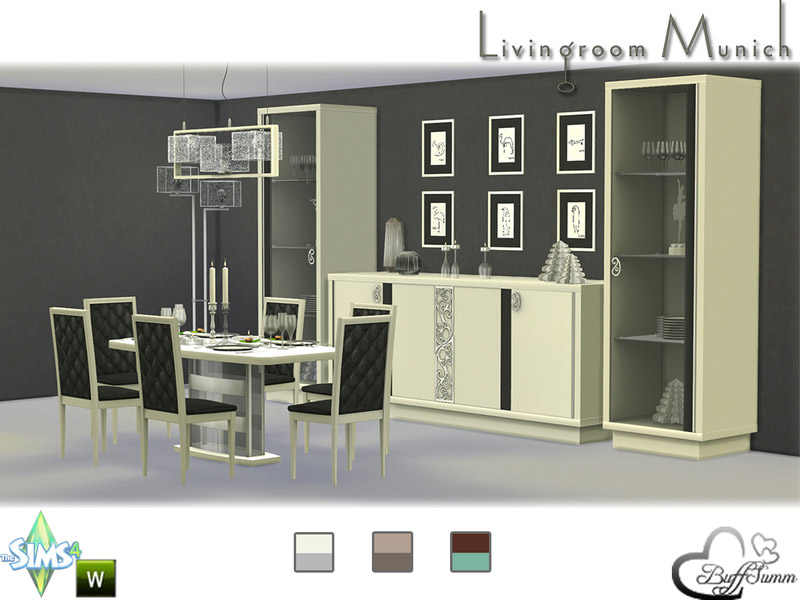 diningroom munich the sims 4 catalog. Black Bedroom Furniture Sets. Home Design Ideas