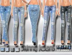 e15eab65ee3 Skinny Jeans with Dots. Pinkzombiecupcakes. The Sims 4 ...