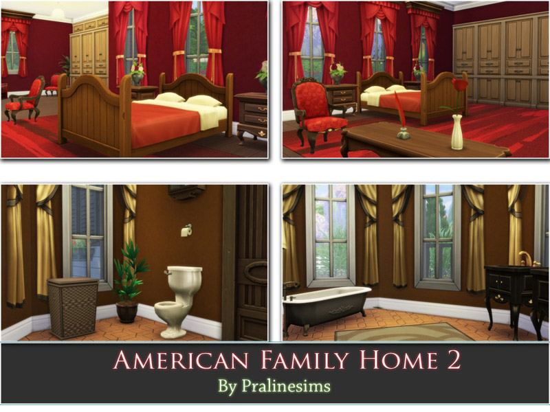 American family home 2 the sims 4 catalog for American family homes