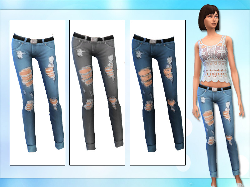Ripped Jeans Maxis Match - The Sims 4 Catalog