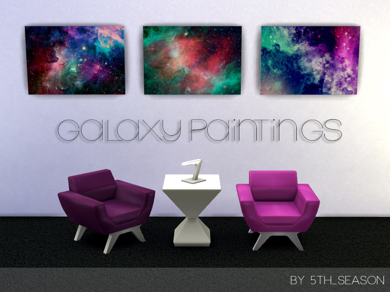 Galaxy Paintings The Sims 4 Catalog