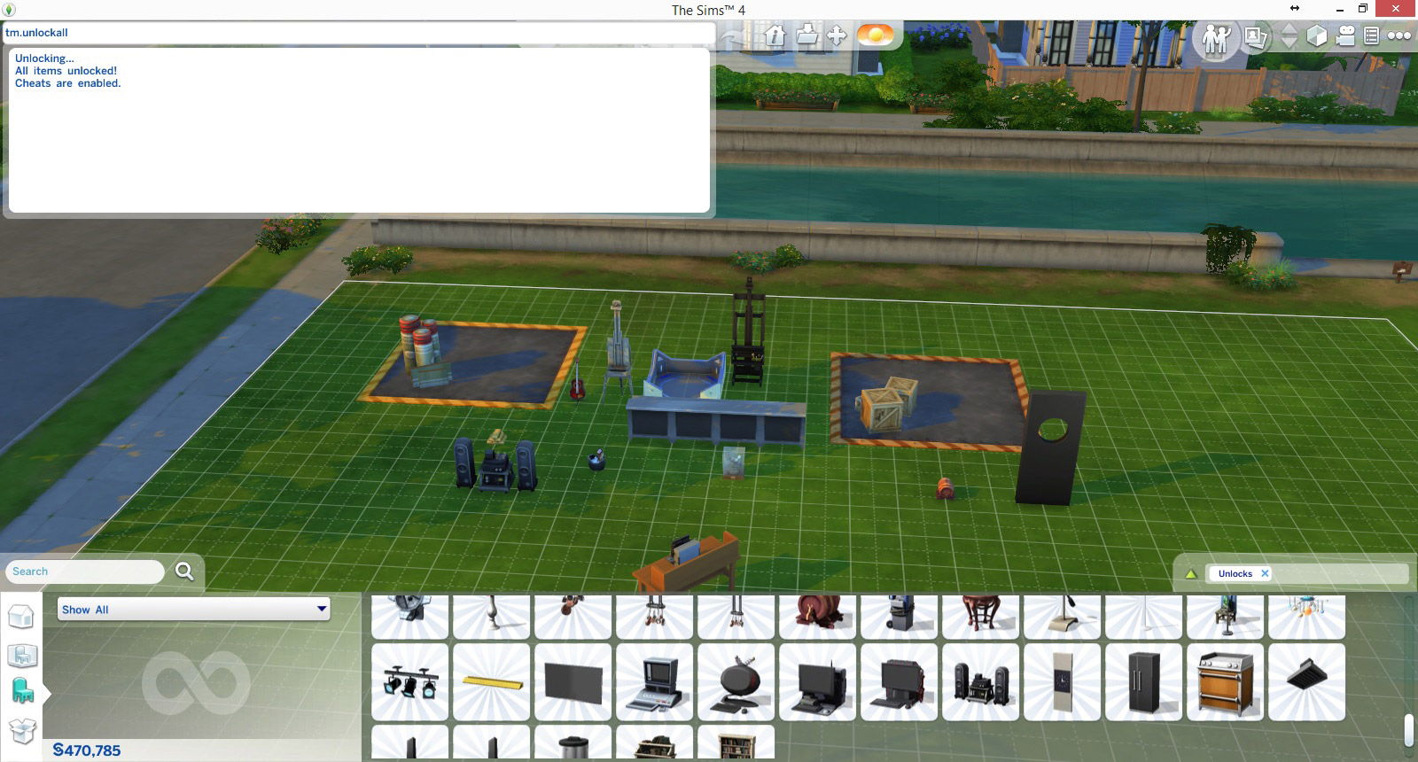 Sims  Enable Free Build Cheat